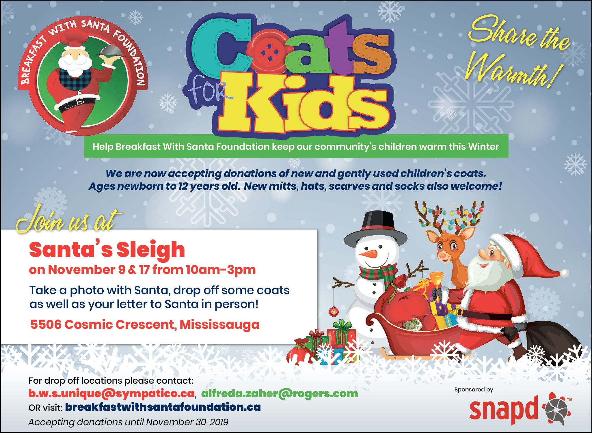 COATS 4 KIDS SNAP'D FLYER